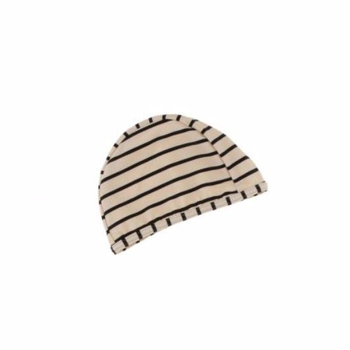 SWIM HAT by Tinycottons (one size, Stipes Beige/Black)