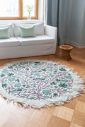 BIRDS CARPET ROUND 155 cm  by Tikau (green) NEW!
