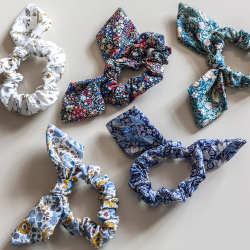 LIBERTY HAIR SCRUNCHIE by Tikau Merikatu ( collection of colors )