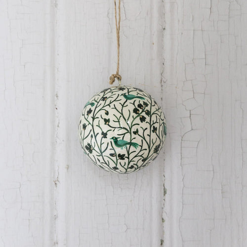 Christmas ornament bauble (Green Birds) NEW