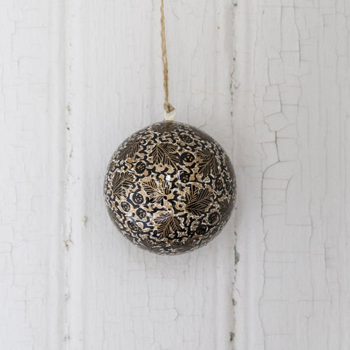 Christmas ornament bauble (Golden leaves)