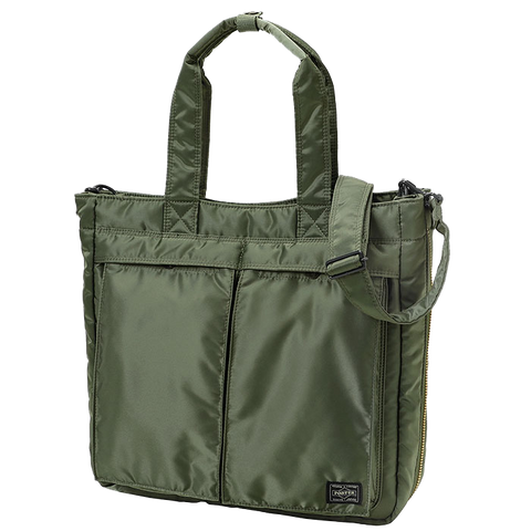 PORTER YOSHIDA & CO TANKER 2 WAY TOTE (SAGE)