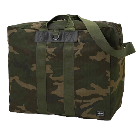 PORTER YOSHIDA & CO PLATOON BOSTON BAG (WOODLAND OLIVE)