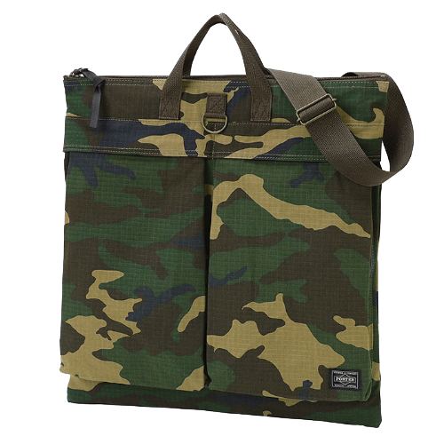 PORTER YOSHIDA & CO PLATOON 2 WAY HELMET BAG (WOODLAND SAND)