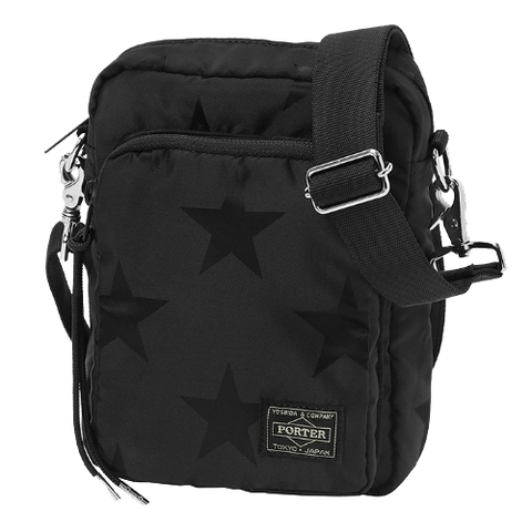 PORTER YOSHIDA & CO FLAG SHOULDER BAG (BLACK)