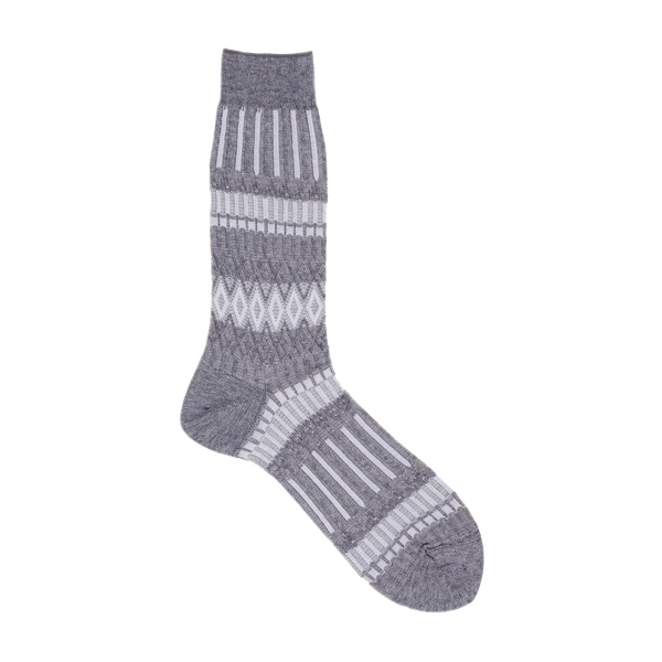 AYAME BASKET LUNCH 2- TONE SOCK (HEATHER GREY)