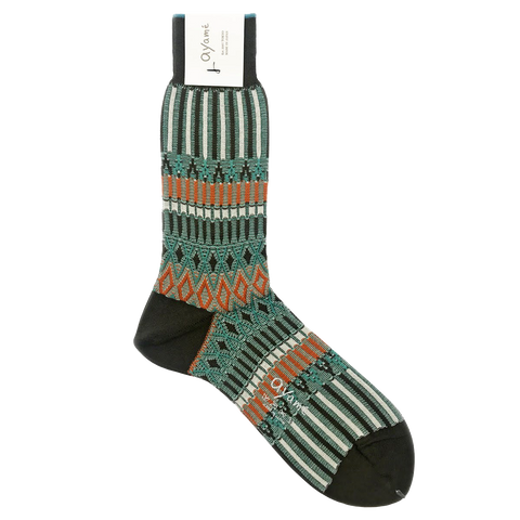 AYAME BASKET LUNCH SOCK (BROWN)