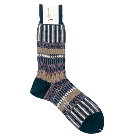 AYAME BASKET LUNCH SOCK (TEAL)