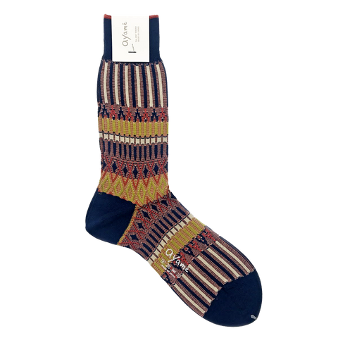 AYAME BASKET LUNCH SOCK (NAVY)