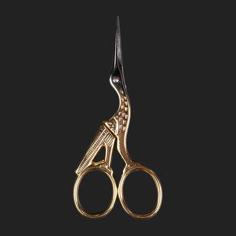 "ERNEST WRIGHT & SONS ""STORK""  GOLD EMBROIDERY SCISSORS"