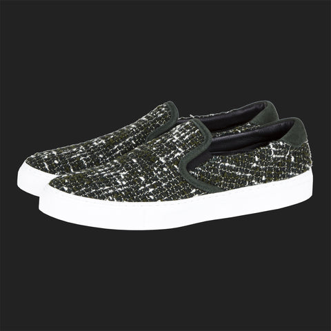 DIEMME GARDA SLIP ON SNEAKERS (GREEN TWEED)