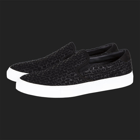 DIEMME GARDA SLIP ON SNEAKERS (BLACK TWEED)