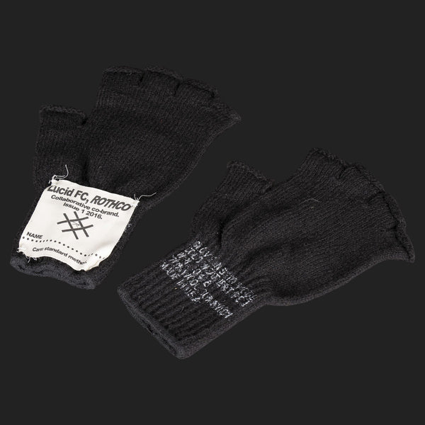 LUCID FC x ROTHCO CREST FINGERLESS GLOVES (BLACK)