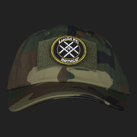 LUCID FC x ROTHCO CREST LOGO PATCH CAP (CAMO)