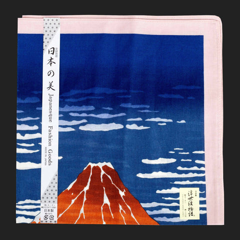 UKIYOE JAPANESE POCKET SQUARES (Blue Mount Fuji)