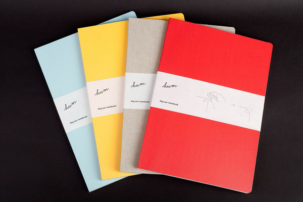 HUM STATIONARY DOG EAR NOTEBOOK (LARGE)