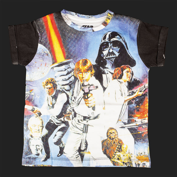 LITTLE ELEVEN PARIS STAR WARS PRINT TEE
