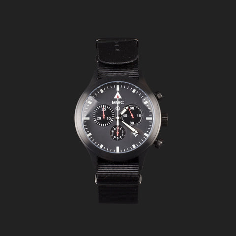 MWC CHRONOGRAPH MIL-TEC MKIV PVD Stainless Steel Military Pilots WATCH