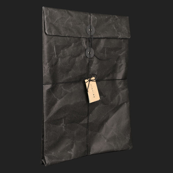 SIWA STRING & BUTTON ENVELOPE (BLACK)