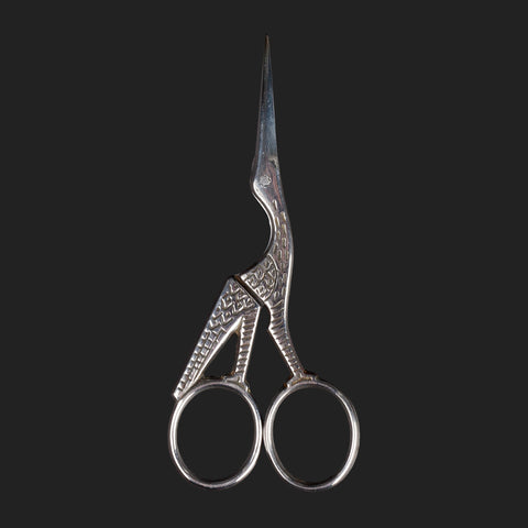 "ERNEST WRIGHT & SONS ""STORK""  ANTIQUE EMBROIDERY SCISSORS"
