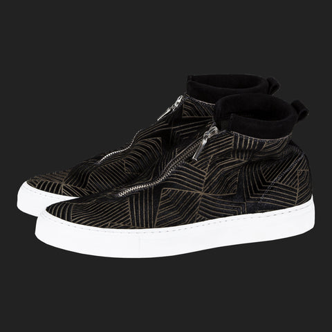 DIEMME FONTESI HI TOPS (Lazercut Black & Gold)
