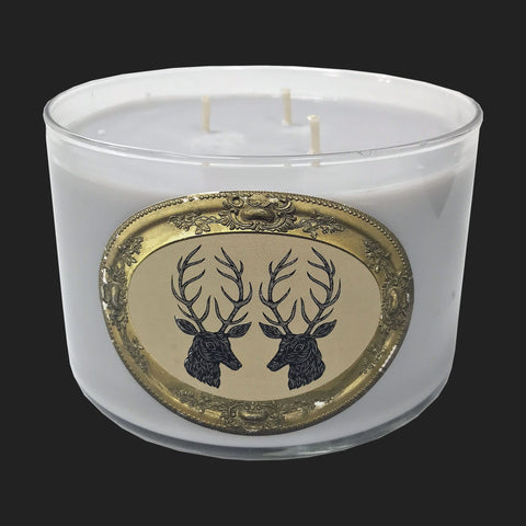 PATCH NYC SOAP & PAPER SOY  3 WICK CANDLE (STAG)