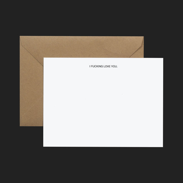"TERRAPIN ""I FUCKING LOVE YOU"" NOTE CARDS (PACK OF 6)"
