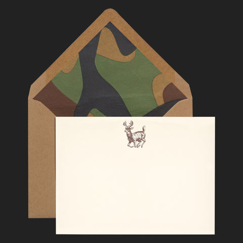 "TERRAPIN ""CAMO DEER"" NOTE CARDS (PACK OF 5)"