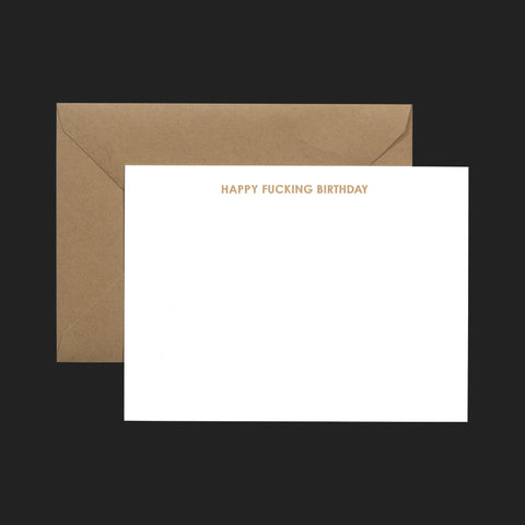 "TERRAPIN ""HAPPY FUCKING BIRTHDAY"" NOTE CARDS (PACK OF 6)"