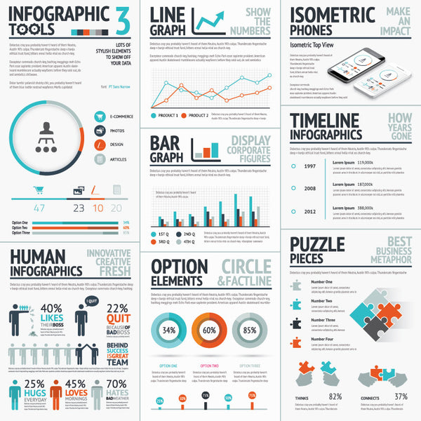 Infographic Vector Template Tools Set 3