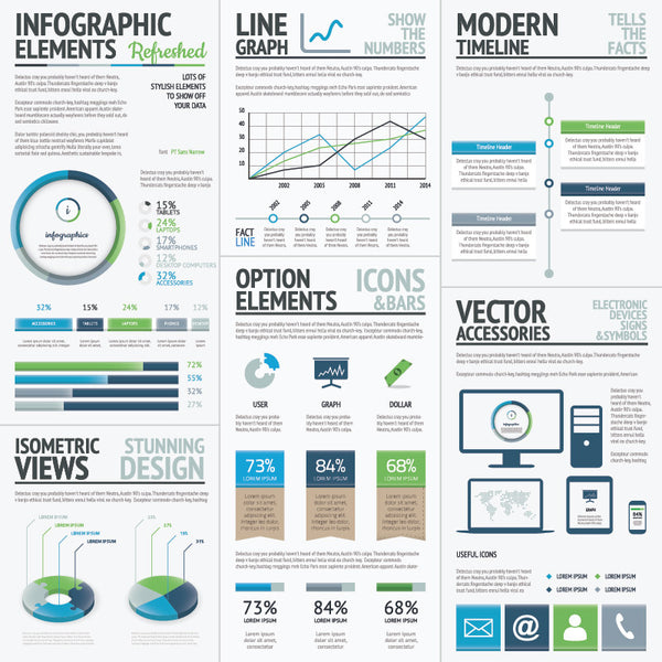 Infographic Vector Template Elements Refreshed
