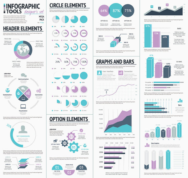Infographic Vector Template Elements Designers Set
