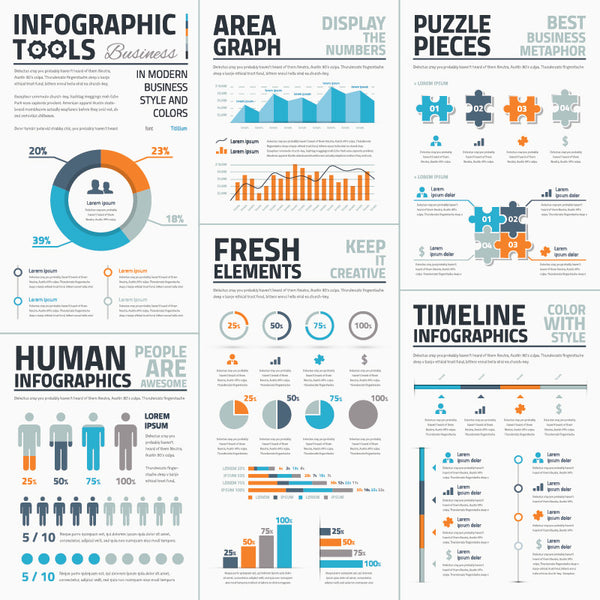 Infographic Vector Template Tools Business Edition
