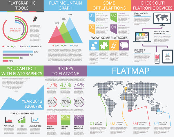 Infographic Vector Template Flat Infographics