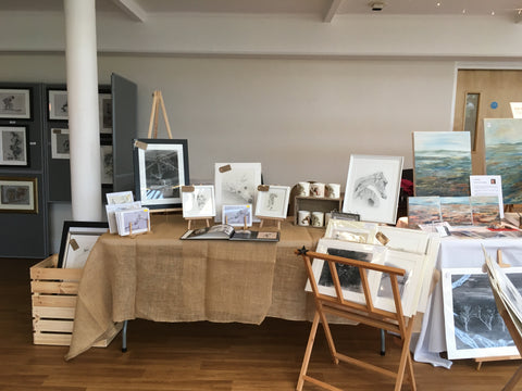 cricket and fine art animals portraits exhibition stall of fine art cheshire