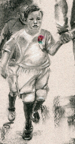 rugby junior mascot for england drawing by rugby artist