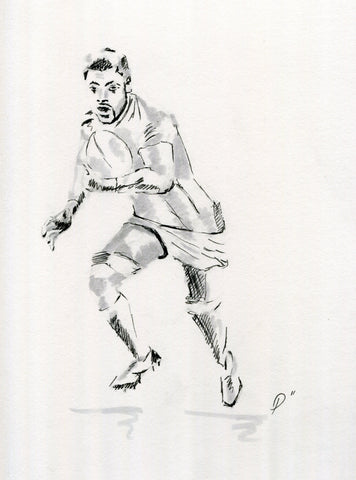 rugby sketch drawing for rugby art