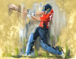 original oil painting of england cricket captain eoin morgan
