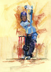 original pastel drawing of jason roy batting for england