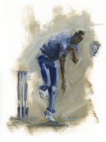 jofra archer england cricket fast bowler painting