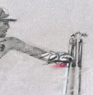wicket keeper cricket drawing