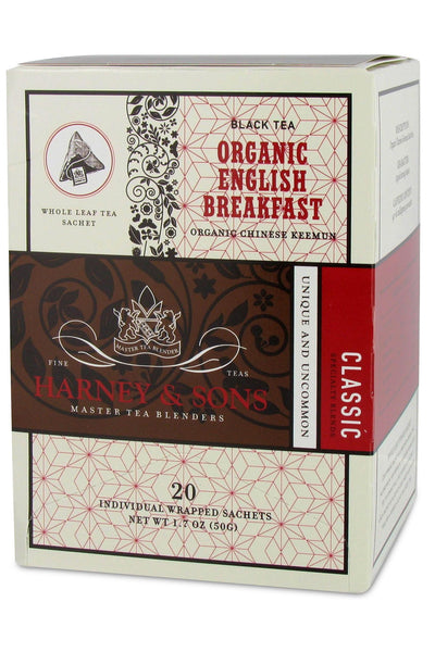 Harney & Sons Organic English Breakfast Tea 20ct