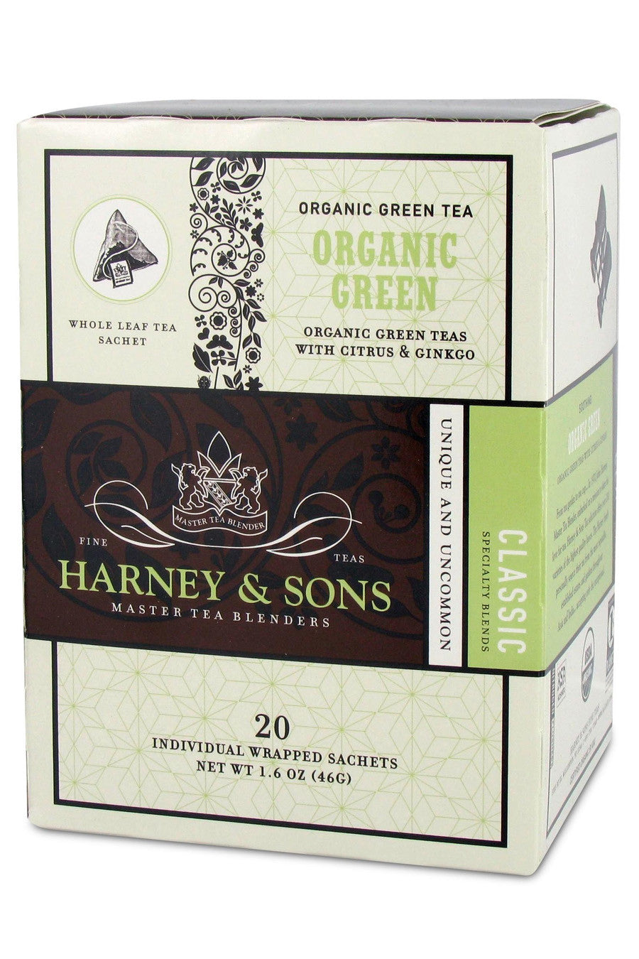 Harney & Sons Organic Green Tea with Citrus and Gingko 20ct