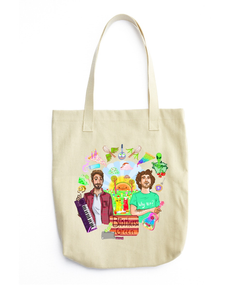 Wacky World of Brothers Green Tote Bag