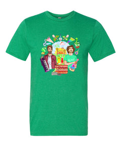 Wacky World of Brothers Green Soft Tee (Heather Green)