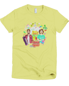 Wacky World of Brothers Green Women's Tee (Lemon)