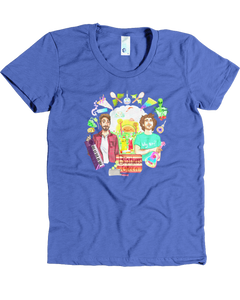 Wacky World of Brothers Green Women's Soft Tee (Lake Blue)