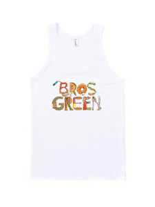 Food Letters Tank Unisex (White)