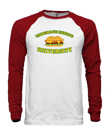 Underage Eating University Long-sleeve (Red/White)