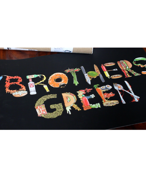 "Brothers Green Food Letter Poster (12""-18)"